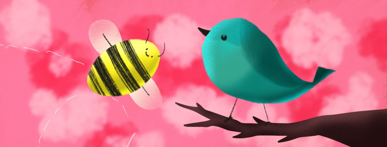 a bird and a bee
