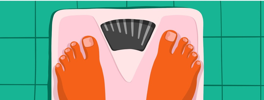 feet on a scale