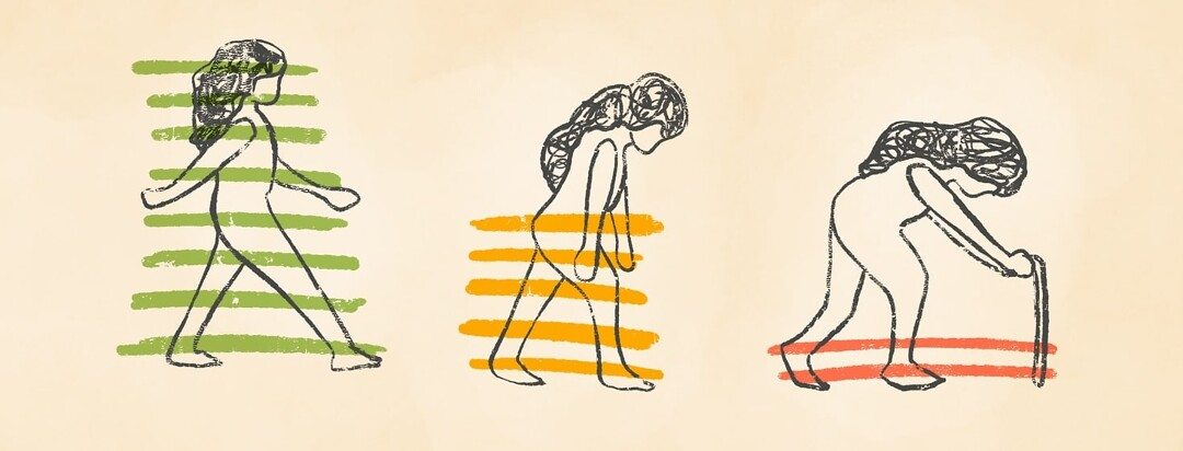 threes stages of a woman's energy deteriorating