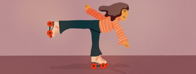 person on roller skates
